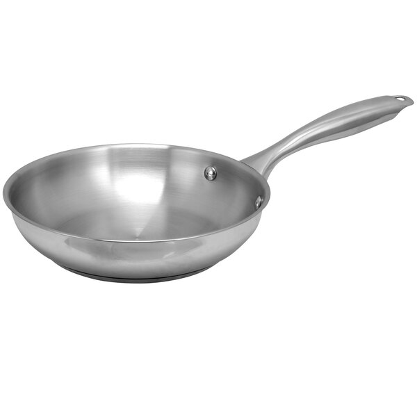Lexie Stainless Steel 8 Frying Pan by Symple Stuff