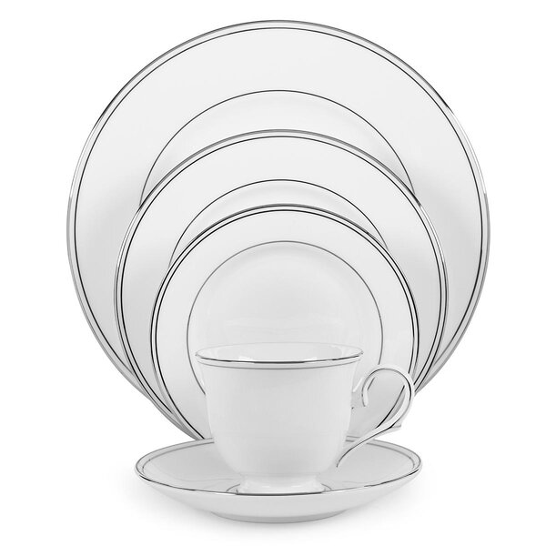 Federal Platinum Bone China 5 Piece Place Setting, Service for 1 by Lenox