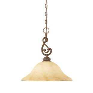 Find Goolsby 1-Light Bowl Pendant By Fleur De Lis Living