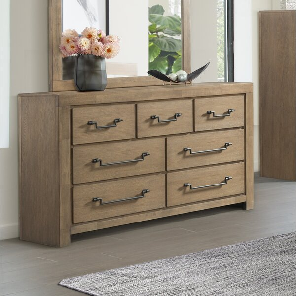 Schwab 7 Drawer Double Dresser by Gracie Oaks
