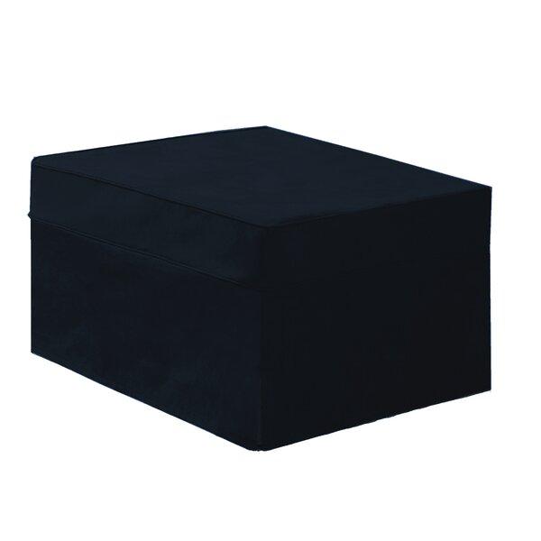 Black Box Cushion Ottoman Slipcover By Ebern Designs
