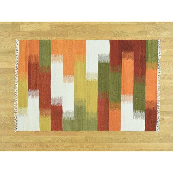 One-of-a-Kind Bessey Handmade Kilim Wool Area Rug by Isabelline