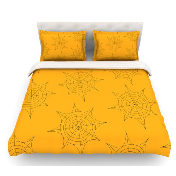 Spiderwebs  Featherweight Duvet Cover by East Urban Home