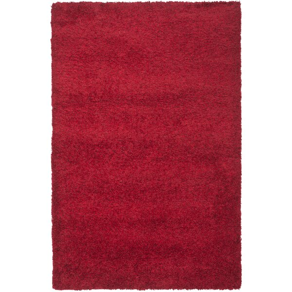 Rowen Handmade Red Area Rug by Wade Logan