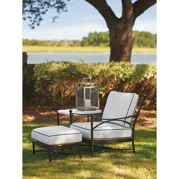 Pavlova Patio Chair with Sunbrella Cushions and Ottoman by Tommy Bahama Outdoor Tommy Bahama Outdoor