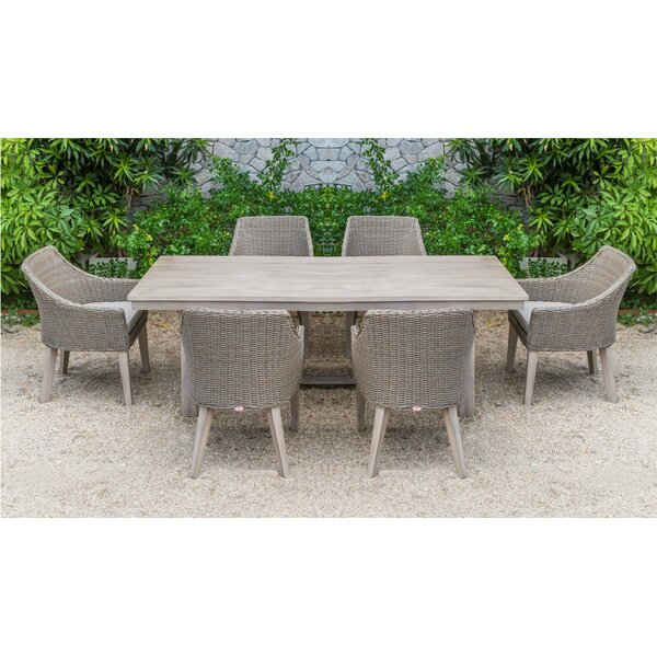 Matangi and Gazos 7 Piece Dining Set with Cushions by Gracie Oaks