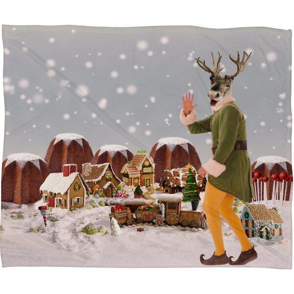 Natt Rudolph Plush Fleece Throw Blanket by Deny Designs