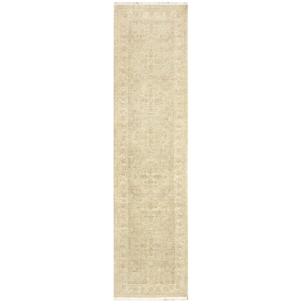 Farahan Pak Pishavar Hand Knotted Wool Blue/Beige Area Rug by Pasargad NY