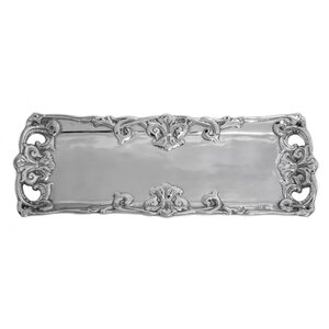 Fleur De Lis Rectangle Serving Tray