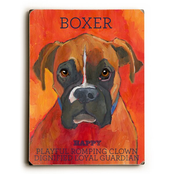 Boxer Graphic Art by Artehouse LLC