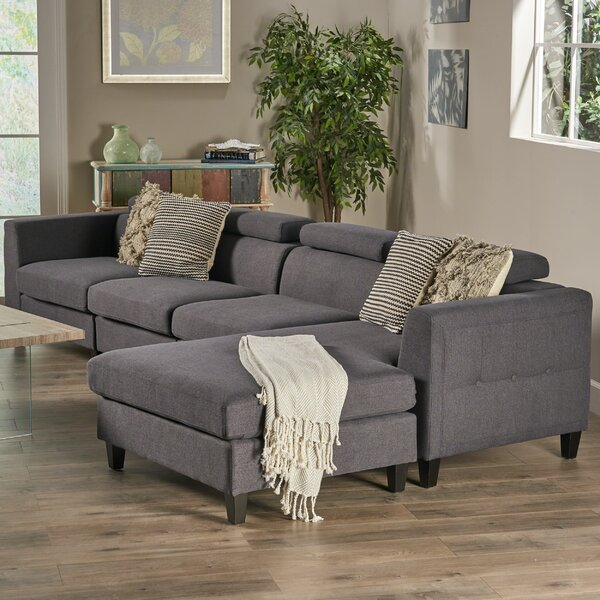 Lundberg Right Hand Facing Modern Extended Deep Seated Chaise Modular Sectional by Ivy Bronx Ivy Bronx