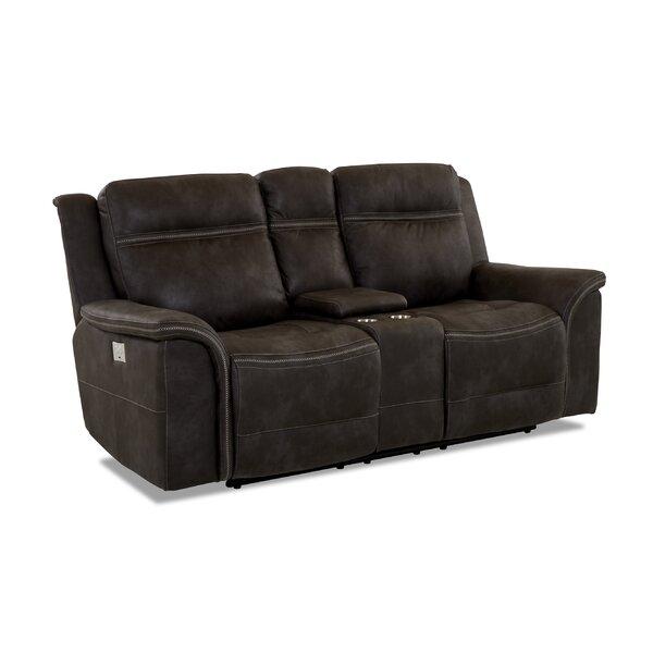 Outdoor Furniture Ruvalcaba Leather Reclining Loveseat