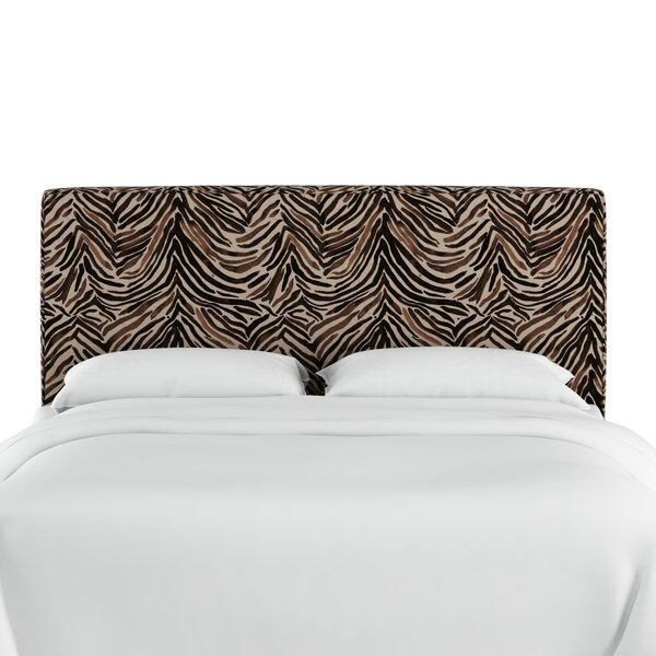 Genevie Washed Zebra Upholstered Panel Headboard by Bloomsbury Market