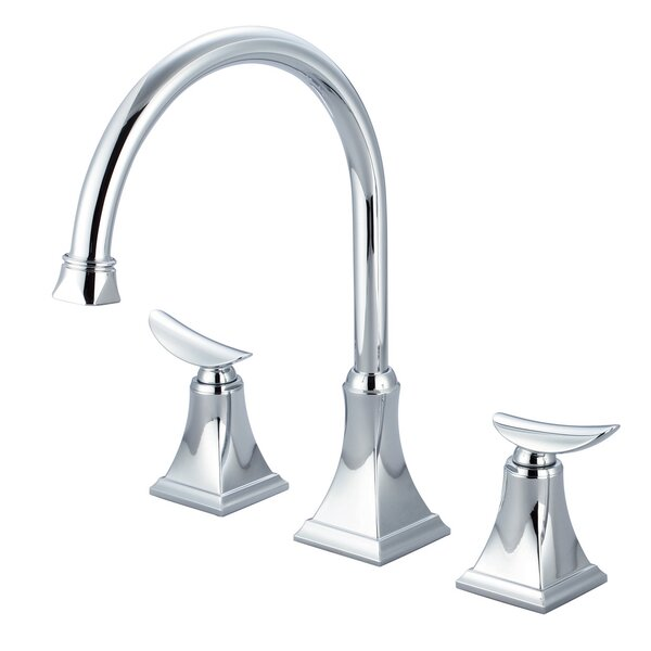 Double Handle Kitchen Faucet with Pop-up Drain by Just Manufacturing