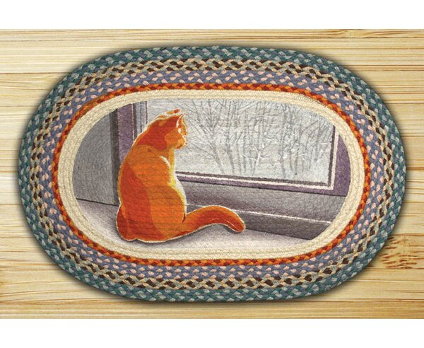 Window Cat Printed Area Rug by Earth Rugs