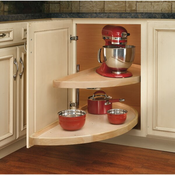 35 Lazy Susan Half-Moon Wood 2 Shelf by Rev-A-Shelf