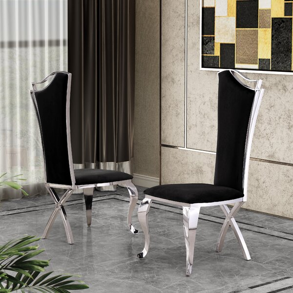 Harborough Upholstered Dining Chair (Set of 2) by Everly Quinn