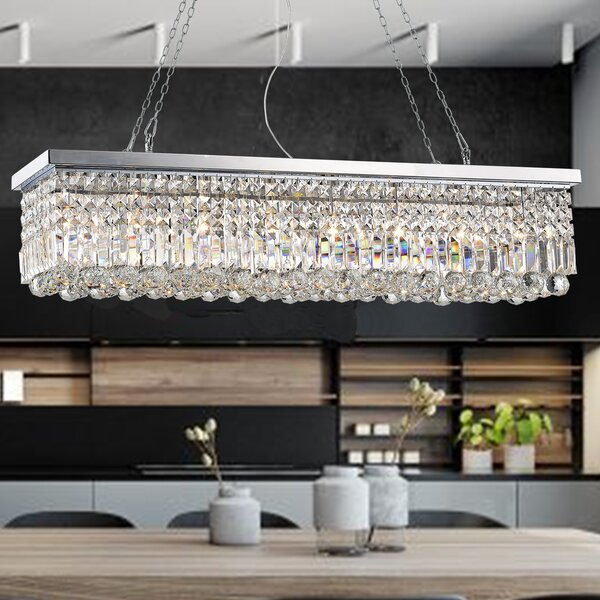Gracelyn 8-Light Kitchen Island Pendant by Rosdorf