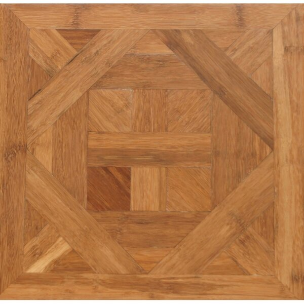 Bordeaux Parquet Engineered 15.75 x 15.75 Bamboo Wood Tile by Islander Flooring