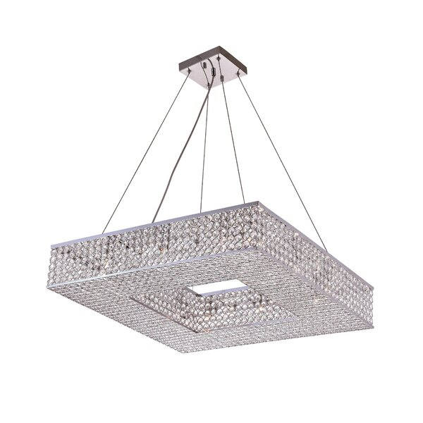 Beckley 12 - Light Unique / Statement Rectangle / Square Chandelier By House Of Hampton