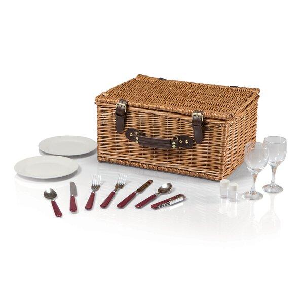 Bristol Picnic Basket Set by Highland Dunes
