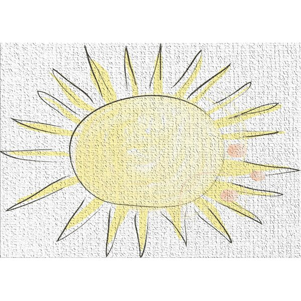 Sun Yellow Area Rug