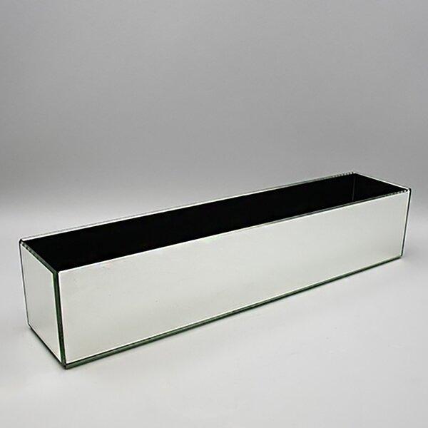 Rectangular Mirror Glass Planter Box by Vasesource