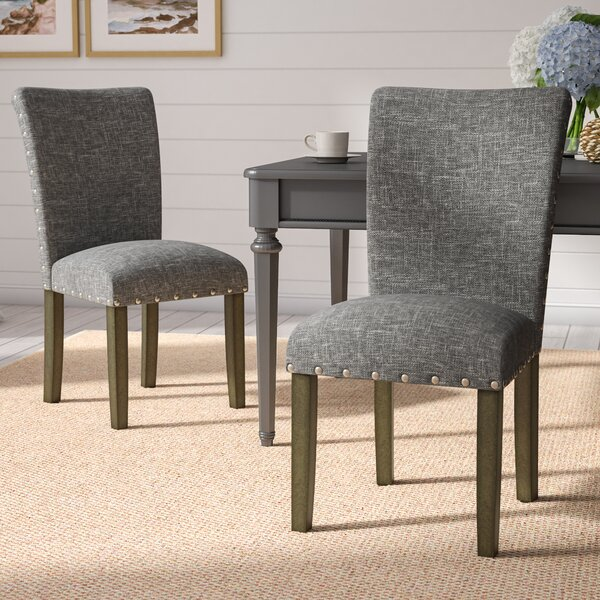 Saxis Classic Parsons Upholstered Dining Chair (Set of 2) by Beachcrest Home