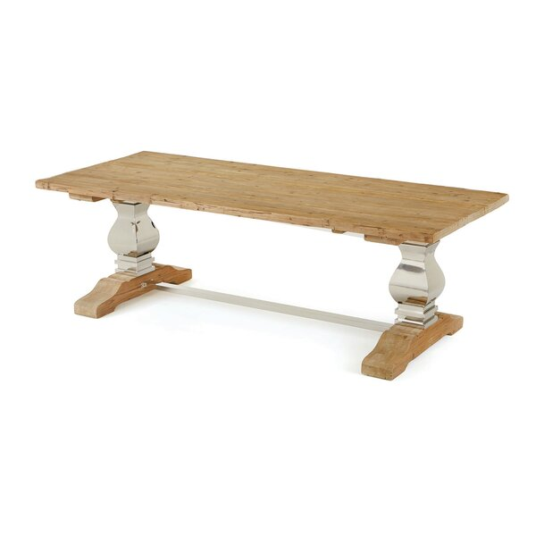 Maniteau Solid Wood Dining Table by Laurel Foundry Modern Farmhouse