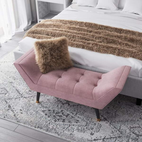 Allura Upholstered Bench By CosmoLiving By Cosmopolitan by CosmoLiving by Cosmopolitan New