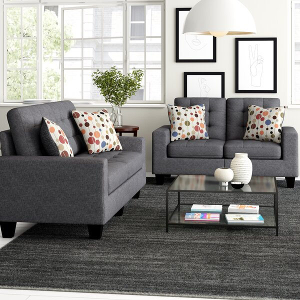 Shopping for Amia 2 Piece Living Room Set by Zipcode Design