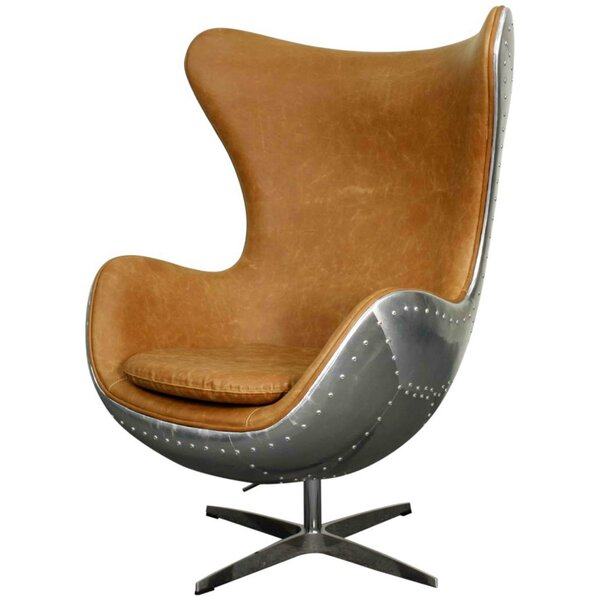 Devaughn Swivel Wingback Chair by 17 Stories