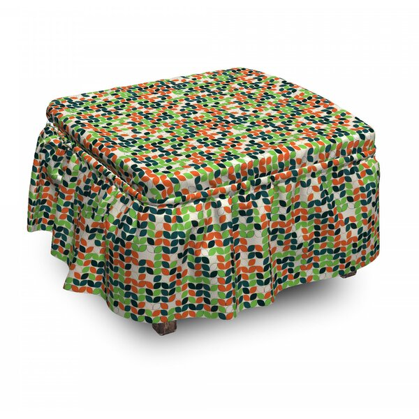 Motif Abstract Ottoman Slipcover (Set Of 2) By East Urban Home