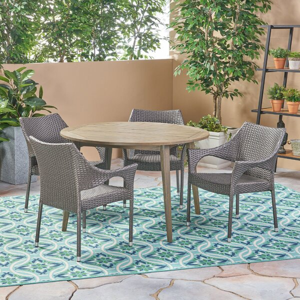 Macaulay Outdoor 5 Piece Dining Set by Bungalow Rose