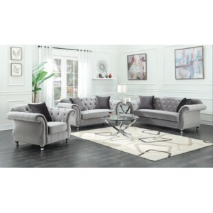 Cobbtown 3 Piece Velvet Living Room Set by Rosdorf Park