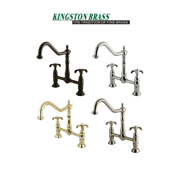 French Country Bridge Faucet with Optional Side Spray by Kingston Brass