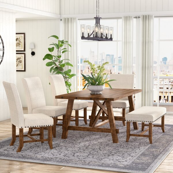 Montcerf 6 Piece Dining Set by Laurel Foundry Modern Farmhouse Laurel Foundry Modern Farmhouse