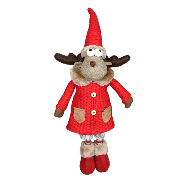 Stylish Reindeer Girl Stuffed Holiday Accent by The Holiday Aisle