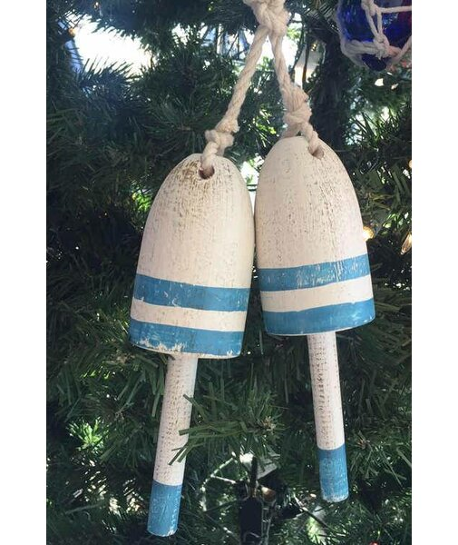 Wooden Decorative Maine Lobster Trap Buoy Christmas Ornament (Set of 2) by The Holiday Aisle