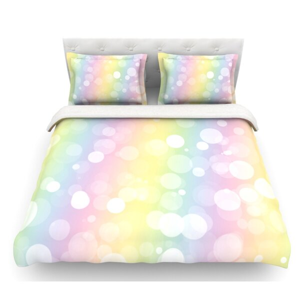 Pastel Prism  Bokeh Featherweight Duvet Cover by East Urban Home