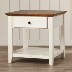 Willow End Table With Storage� by Beachcrest..