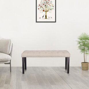Hadlow Tufted Upholstered Bench by Winston Porter