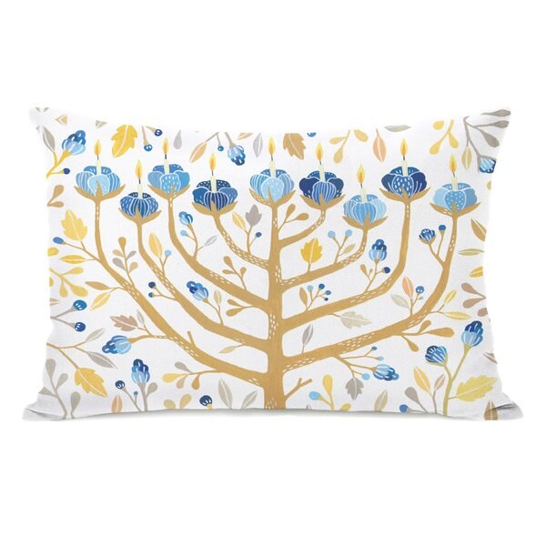 Menorah Lumbar Pillow by One Bella Casa