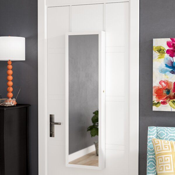 Bulgera Combination and Makeup Storage Wall Mounted or Over the Door Jewelry Armoire by Zipcode Design