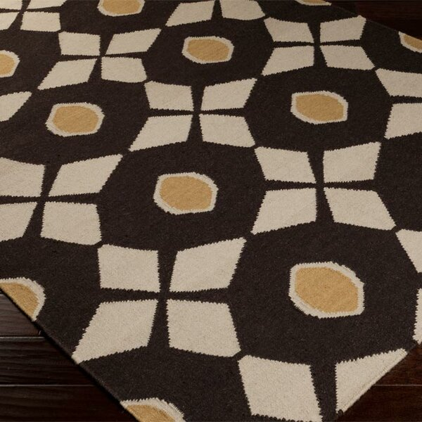 Donley Espresso/Oatmeal Area Rug by Wrought Studio