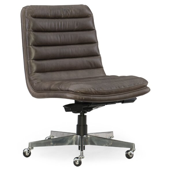 Wyatt Home Office Mid-Back Leather Office Chair by Hooker Furniture