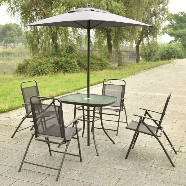 Cannock 6 Piece Dining Set with Umbrella by Ebern Designs