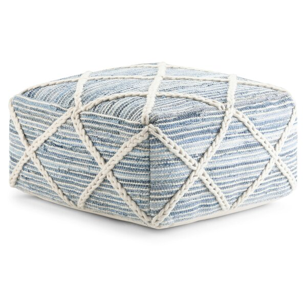 Ine Square Pouf by Highland Dunes