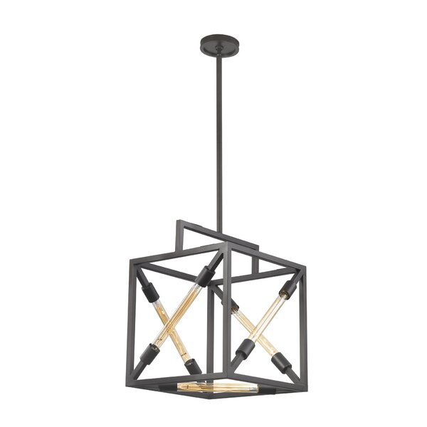 Zahara 5 - Light Unique / Statement Rectangle / Square Chandelier by 17 Stories 17 Stories