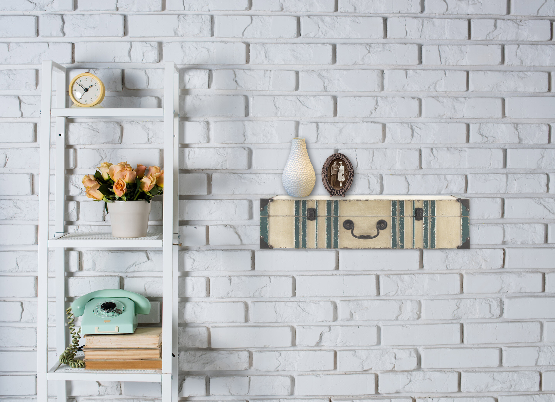 arnone vintage suitcase wall shelf